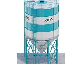 3D model Silo for grain
