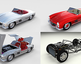 Mercedes 300SL with chassis Pack 3D