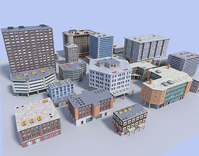 20 city building collection 3D model VR / AR ready