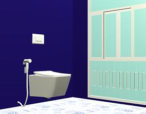 3D model Wall Hanging water closet