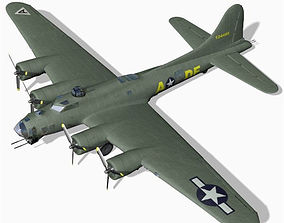 3D model B 17G Flying Fortress for Unity
