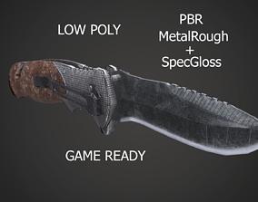3D asset Pocketknife Military Hunting Knife Butterfly