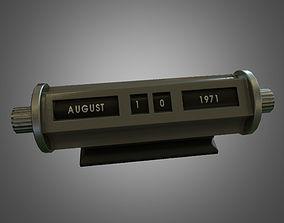 Perpetual Desk Calendar - Game Ready 3D asset