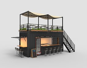 3D model Cafe Container 3