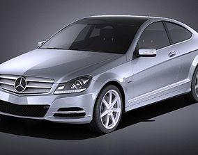 3D Mercedes-Benz C coupe 2013 VRAY
