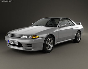 Nissan Skyline GT-R coupe 1989 3D model