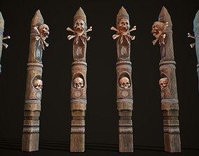 Totem wood 10 pbr 4k 3D model