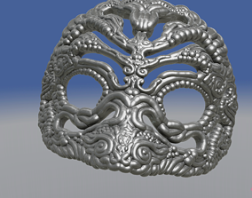3D printable model Intricate See Through Venetian Mask