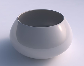 Bowl squeezed twisted smooth 3D print model
