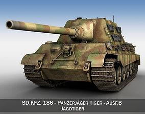 SDKFZ 186 Jagdtiger - Hunting Tiger 3D model