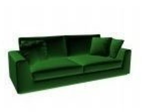 Sofa green wood 3D print model