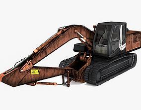 3D asset Excavator low poly