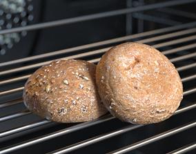 Brown Bread Bun Photoscan 3D model