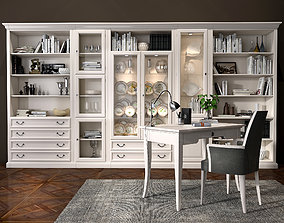 3D Selva bookcase Mirabeau set sections01
