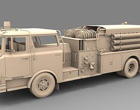 3D model Firetruck Mack CF 1978