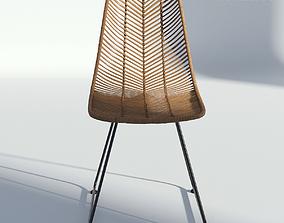 Wicker Side Chair 3D