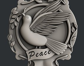 3d STL models for 3d printer dove peace