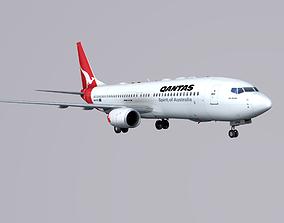 Boieng 737-800 Qantas 3D asset