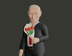 3D model Vladimir Putin caricature