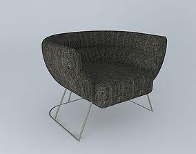 Pillow Tub Chair 3D