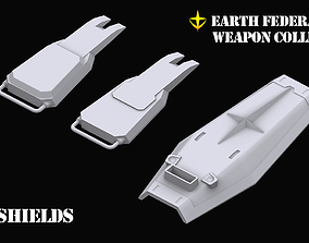 Gundam Earth Federation Shields 3D