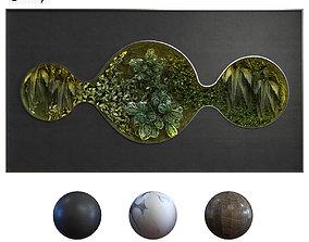 green wall set 050 3D asset