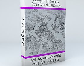 3D model Cologne Streets and Buildings map