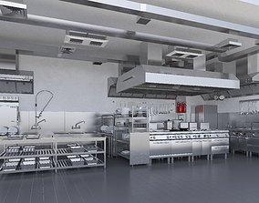 3D model Commercial Kitchen v2