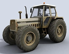 farming Tractor 3D model game-ready