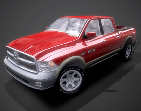 Dodge RAM 2009 3D model realtime