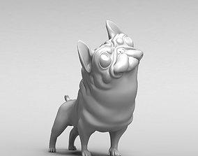 Funny french bulldog 3D print model