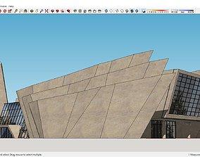 Sketchup Cultural center G1 3D