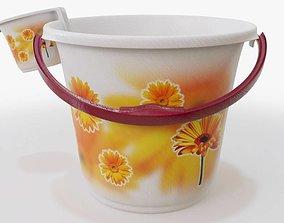 Bathroom Bucket Set 3D asset