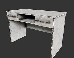 Old computer desk 3D model