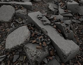 Debris Piles 3D asset VR / AR ready