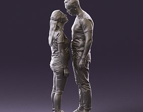 001041 man and woman looking on each other 3D Print Ready