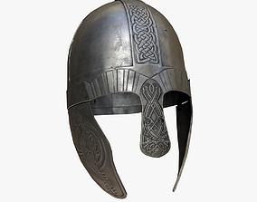 3D asset Viking helmet PBR