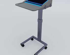 3D portable Sci Fi Lecturn Podium