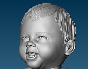 Baby at the potty HIGHPOLY 3D Print high-poly