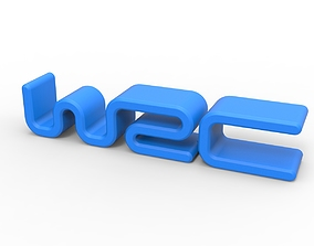 3D printable WRC emblem