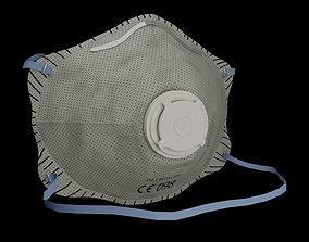 3D asset FFP2 mask covid19 protection