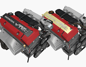 3D Honda F series engine pack