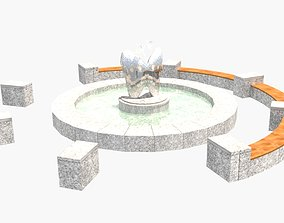 3D model Butterfly-shaped fountain inside the Asia Culture