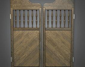 Saloon Doors Dive Bar - PBR Game Ready 3D asset