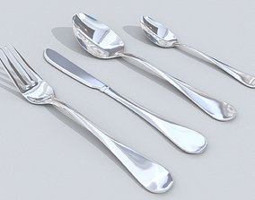 3D model knife forks spoons
