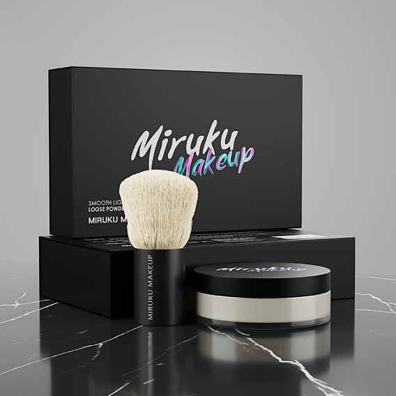 Packaging 3D Visual for Miru-Ku Cosmetics Products