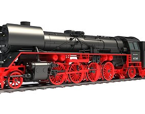 3D model Steam Locomotive Train drb