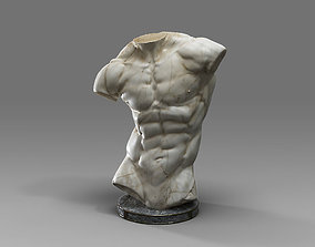 MaleTorsoSculptureA 3D asset