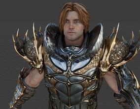 Greystone king 3D model rigged