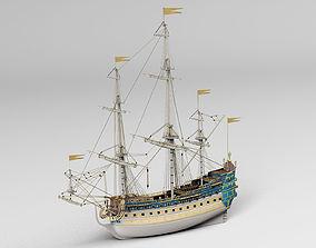 Warship 3D model game